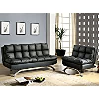 247SHOPATHOME Idf-2906-Blk-2PC Futon-Sets, Twin, Black