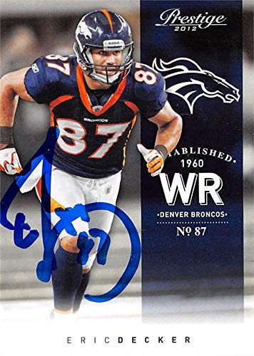 Denver Broncos Eric Decker Autograph