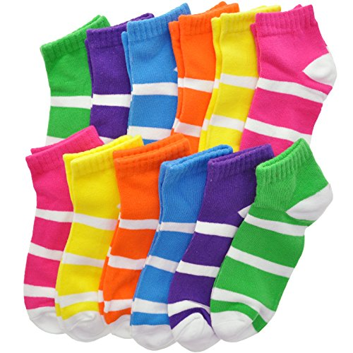 Angelina Cotton Low Cut Trainer Socks (12-Pack) ()