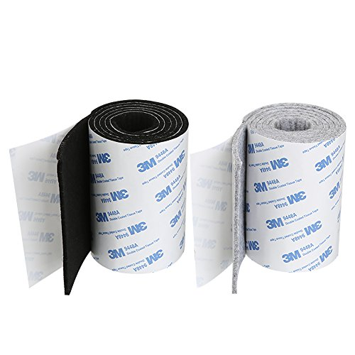 Shintop Felt Tape DIY Adhesive Heavy Duty Felt Strip Roll Cut into Any Shape to Protect Your Hardwood And Laminate Flooring (Black +Gray)