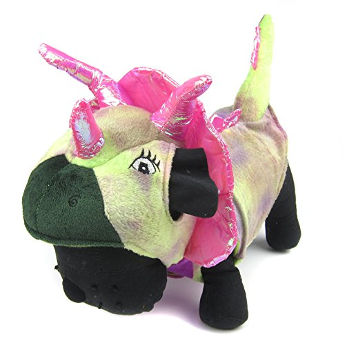 Alfie Pet by Petoga Couture - Brett the Triceratops Costume - Color: Pink, Size: (Triceratops Dog)