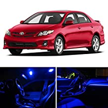 LEDpartsNOW Toyota Corolla 2000-2014 Blue Premium LED Interior Lights Package Kit (6 Pieces)