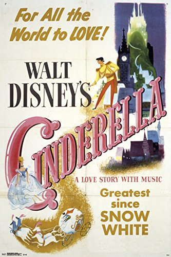 Trends International 24x36 Cinderella-One Sheet Premium Wall Poster, 22.375