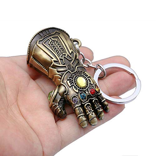 Thanos Glove Keychain Nidavellir Infinity Gauntlet Key Chain Marvel Avengers Key Ring (Bronze)