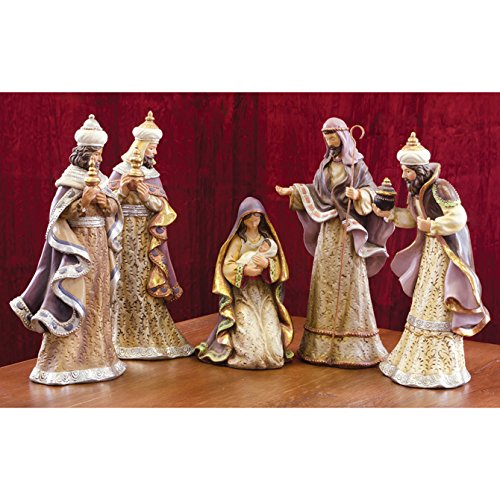 Spirit of Christmas - Five Piece Nativity Set - Christmas Manger Set by Carson