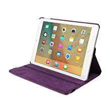 12.9 Inch iPad Pro 12.9 Case for Women, Businda 360 Degree Rotating PU Leather Cartoon Slim Fit Smart Case with Multi-Angle Stand Protective Folio Cover Case for 2018 iPad Pro 12.9, Purple