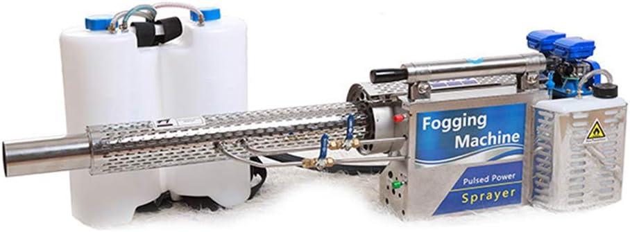 Wzz 16L Máquina De Niebla Nebulizador Máquina De Desinfección Pulverizador Electrico De Alta Presion Pulverizador De Gasolina Niebla Caliente Portátil para Almacén Oficina Agrícola Escuela Jardín