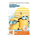 Despicable Me Minions Kids Bandages, 70 ct   100% Waterproof, Antibacterial Bandages for Use on Minor Cuts, Scrapes, Burns