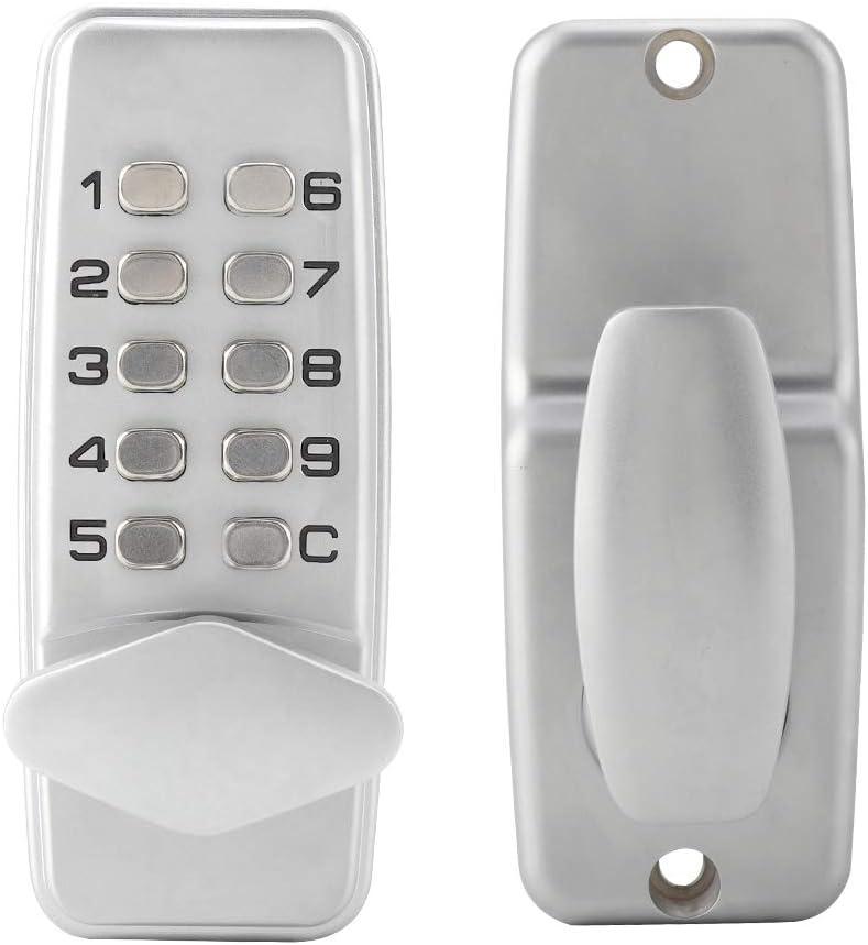 2-8 bloqueo de código digital mecánico cerradura sin llave la puerta entrada teclado palanca combinación manija contraseña seguridad para delantera puertas exteriores aleación zinc el hogar y oficina