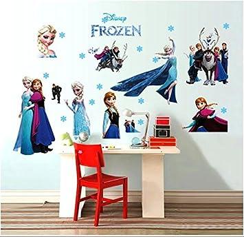 Wandtattoo Wandaufkleber Wandsticker Elsa Eiskönigin Let it Go Anna ...