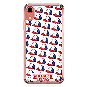 Loud Universe Stranger Things Cap Pattern iPhone XR Case Dustin Cap iPhone XR Cover with Transparent Edges