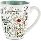 """Mark My Words 66333 """"Be Happy"""" Mug, 20-Ounce"""