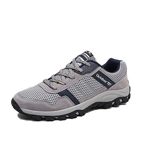nihiug Wanderschuhe Männer Leichte Wanderschuhe Outdoor-Trekking Herbst Männer Große Größe Rutschfeste Schuhe Turnschuhe,Blue-40
