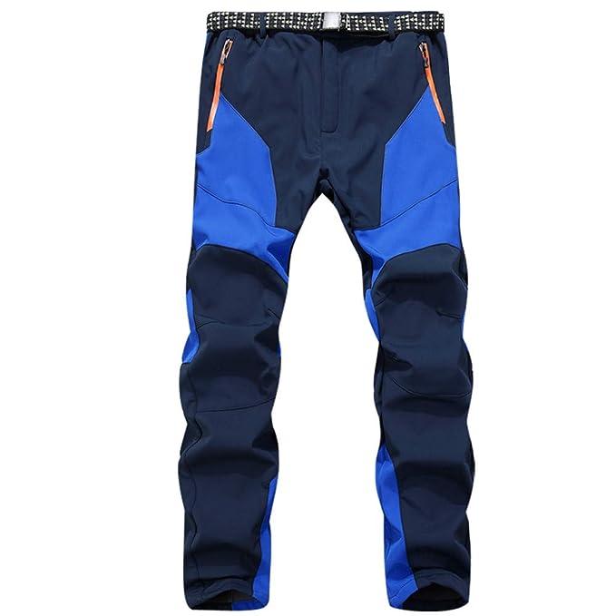 ... Suave A Prueba de Viento Impermeable Espesar Invierno Pantalones de Salto de esquí Deportes al Aire Libre, Invierno cálido: Amazon.es: Ropa y accesorios