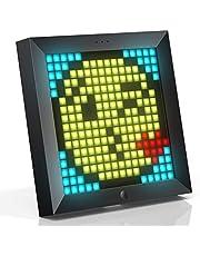 Divoom Pixoo Pixel Art Digitaler Rahmen, Programmierbares 16 * 16 RGB LED Panel, Smart Clock mit Social Media Benachrichtigung, 7.18 Zoll Home Dekor Kalender Uhr für iOS & Android (Schwarz)
