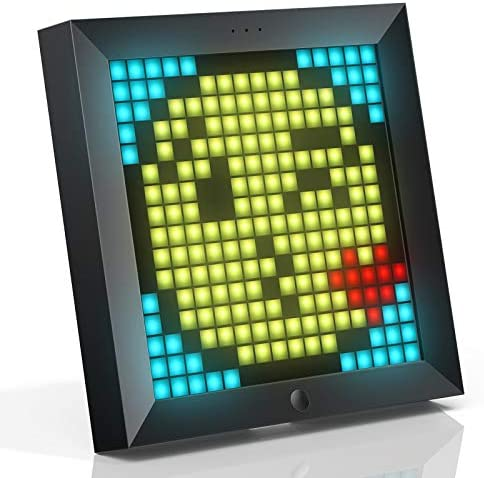 Divoom Pixoo Pixel Art Digital Frame with App Controlled 16X16 LED Screen simultaneously connect up to 4pcs Black