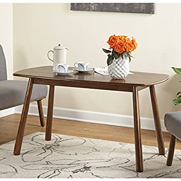 Amazon Simple Living Playmate Walnut Rubberwood Dining Table