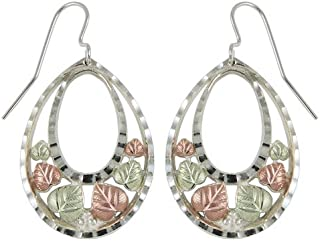 product image for Black Hills Gold Oval Earrings in Sterling Silver from Coleman