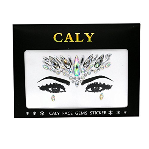 CALY CB-1007 The Gypsy Face Gems Festival Jewels Crystals Face Rocks Sticker For Halloween Makeup for $<!--$6.69-->