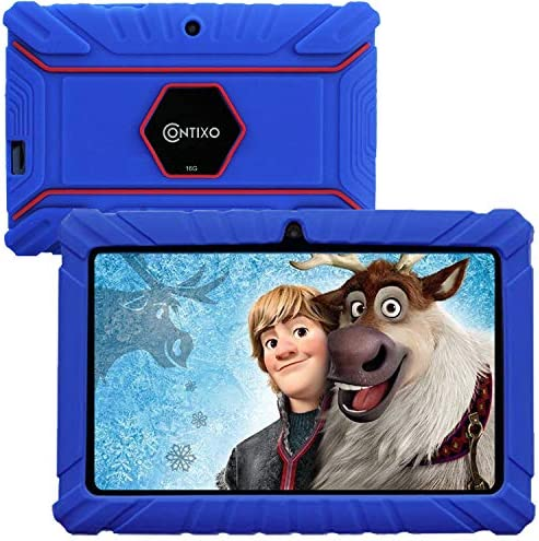Contixo V8-2 7 inch Kids Tablets - Tablet for Kids with Parental Control - Android Tablet 16 GB HD Display Durable Case & Screen Protector WiFi Camera-Learning Toys for two to ten Years Old, Dark Blue