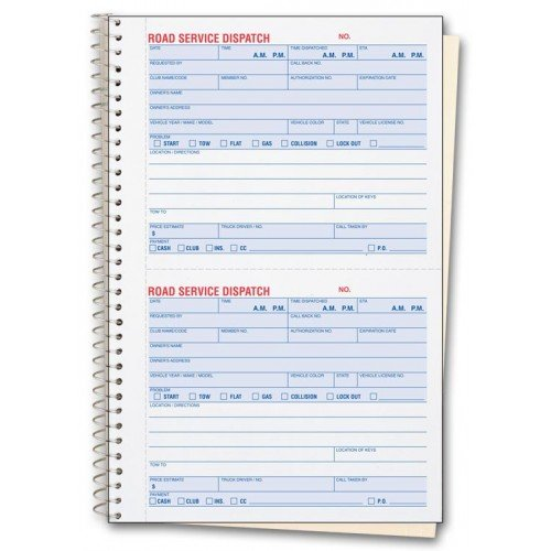 Road Service Dispatch Forms - Booked