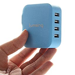 Lumsing® 4-Port 21W Family-sized USB Wall Charger AC Power Adapter for Apple and Anroid Devices