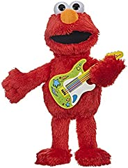 Sesame Street Rock and Rhyme Elmo Talking, Singing 14-Inch Plush Toy for Toddlers, Kids 18 Months &