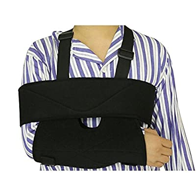 My Arm Sling - Supreme Comfort Medical Arm Sling Shoulder Immobilizer and Swathe | Premium Grade Non-Allergenic Non-Toxic Lightweight Fabric | Ergonomic Universal Design with Adjustable Length | 786