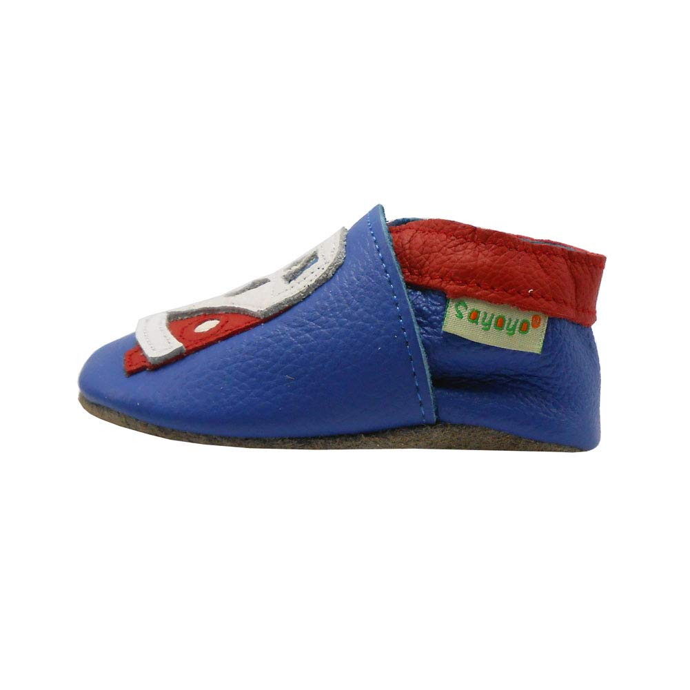 SAYOYO Baby Soft Sole Leather Infant and Toddler Shoes(24-36 Months,Blue) by SAYOYO