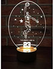By-Lamp 3 Boyutlu Michael Jordan Lamba