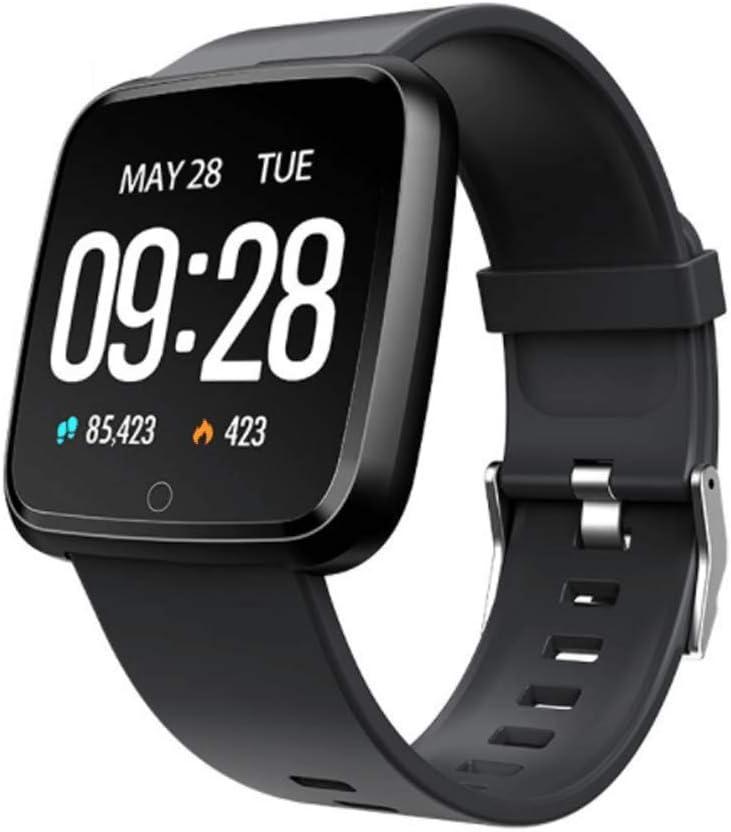 YANM Reloj Deportivo,Monitor de Actividad Pantalla Grande Frecuencia Cardiaca/Presión Sanguínea Dormir Seguimiento Impermeable Podómetro GPS Hombres Mujeres Pulsera Inteligente
