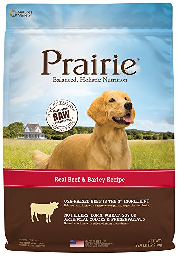 Beef Meal Barley (Prairie Real Beef & Barley Recipe Natural Dry Dog Food by Nature's Variety, 27 lb. Bag)