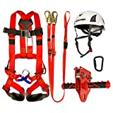 zip line with harness - Fusion Climb Kids Backyard Zip Line Kit Harness Lanyard Trolley Carabiner Helmet Bundle FK-K-HLTCH-06
