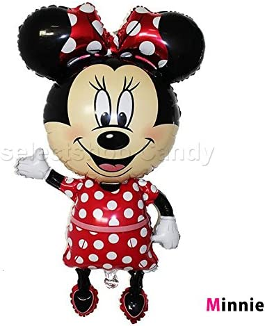 ミッキー ミニー ディズニー バルーン 風船 結婚式 誕生日 ハローキティ パーティ イベント LZ-033fbl (ミニー)