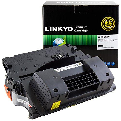LINKYO Replacement Toner Cartridge for HP 81X CF281X (Black, High Yield)