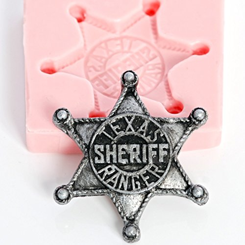 Silicone Marshall Badge Mold Make Your Own Western Sheriff Badge out of Chocolate, Fondant, Candy, Resin, Clay, Wax, Flexible Food Safe and Easy to Use