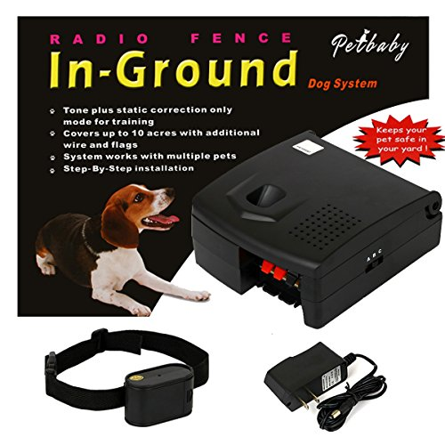 FunAce Underground Pet Containment System with Extra Thick 22 Gauge Wire & Built-in Fuse Lightning Protection - 100% Safe & Secure - Power Transmitter Can Support up to 10 Acres Boundary Area