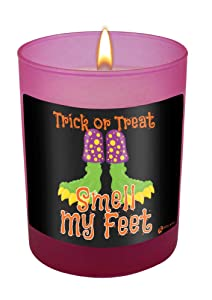 Trick or Treat Smell My Feet-Halloween Candle-11 oz Natural Soy Hand Poured Candle Made In The USA