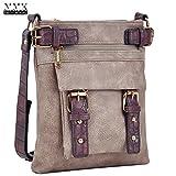 MMK Collection Fashion Crossbody Bag~Messenger Purse for Women~Designer Fashion handbag (MA-09-6333-1-MA)