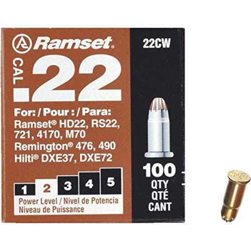 Ramset Powder Load 0.22 Single Caliber, Brown, 100 Piece ()
