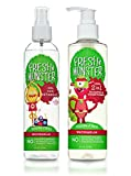 Fresh Monster Toxin-free Hypoallergenic Kids Detangler Spray and 2in1 Shamoo & Conditioner, watermelon, (Pack Of 2)