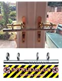 Ironmongery World® Patio Double French door sliding Deadlock bolt Intruder Lock for extra security