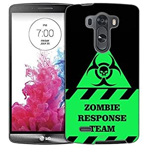 LG G3 Case, Slim Fit Snap On Cover by Trek Warning Zombie Response Team Trans Case