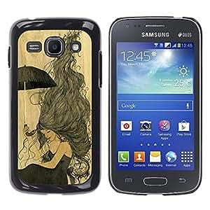 For Samsung Galaxy Ace 3 III / GT-S7270 / GT-S7275 / GT-S7272 Case , Vintage Yellow Parchment Girl - Diseño Patrón Teléfono Caso Cubierta Case Bumper Duro Protección Case Cover Funda