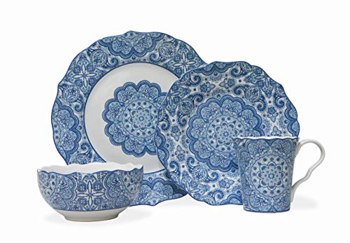 Lyria Blue 16 Piece Dinnerware Set ()