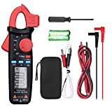 Clamp Meter TRMS 2000 Count Digital Multimeter Multi Tester with Auto Ranging Support NVC, AC/DC Voltmeter Temperature Resistance Diode Continuity AC Non Contact Current Tester with Backlit- FraFong