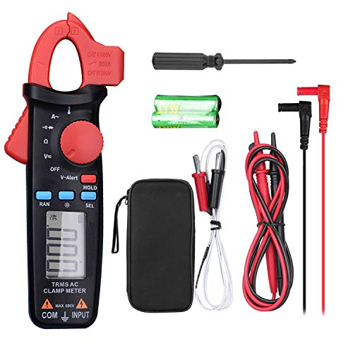 - Clamp Meter TRMS 2000 Count Digital Multimeter Multi Tester with Auto Ranging Support NVC, AC/DC Voltmeter Temperature Resistance Diode Continuity AC Non Contact Current Tester with Backlit- FraFong