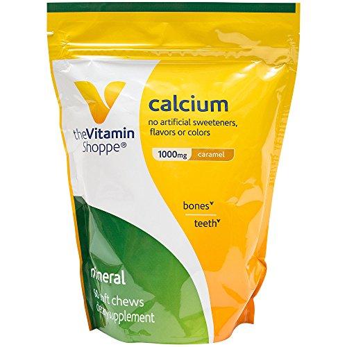 the Vitamin Shoppe Calcium Soft Chew Caramel (60 Chews) Calcium Chews Caramel