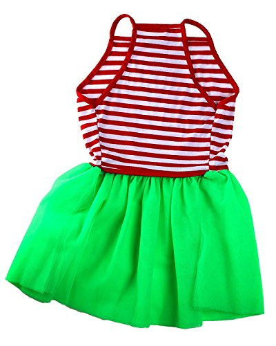 Picture of Christmas Stripe Tutu Large Dog Dress by Midlee (XX-Large)