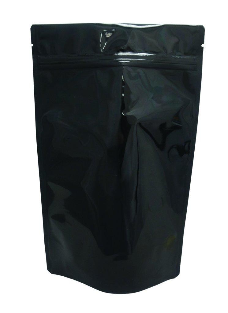 16 oz. Black Metallized Stand Up Zip Pouch (Coffee Packaging, Tea Packaging, Jerky Packaging)